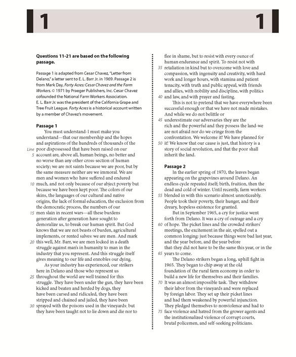 2016年3月5日北美SAT真题及PDF下载