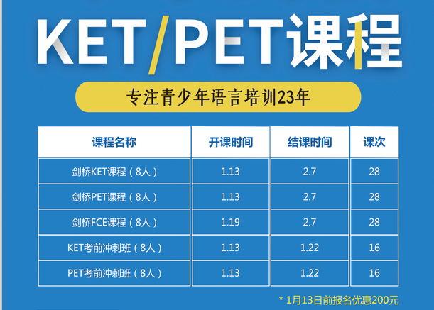 KET/PET课程(二)